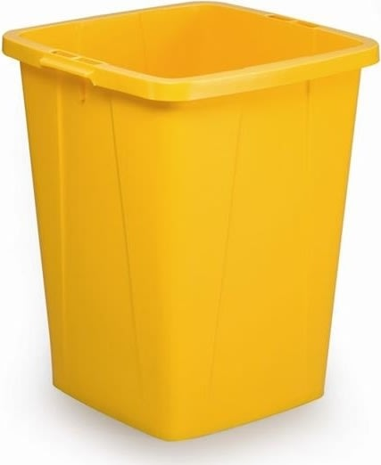 Affaldsspand 90 l, 510x487x630, Gul