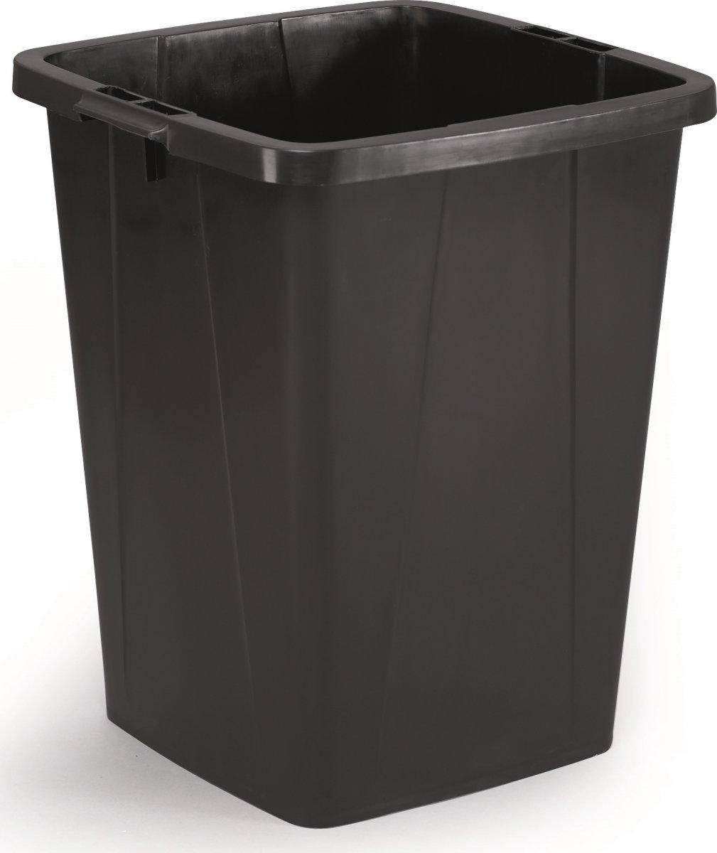 Affaldsspand 90 l, 510x487x630 mm, Sort