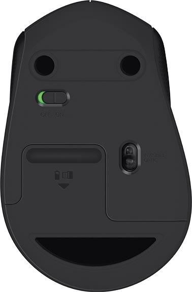 Logitech M330 Silent Plus mus, koksgrå