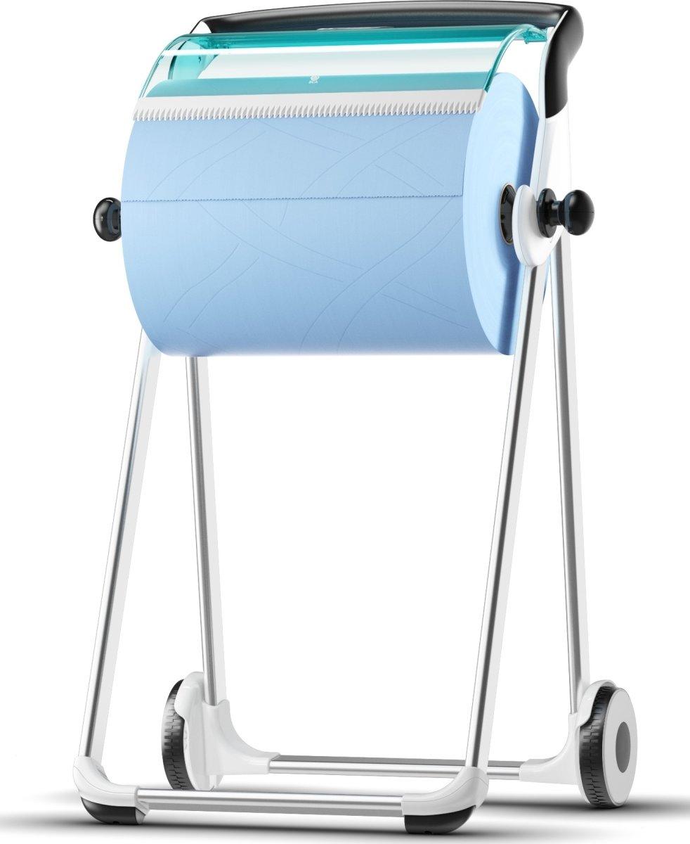 Tork W1 Gulvstativ, hvid/blå