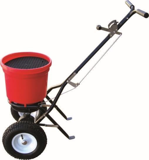 Saltspreder m/ luftgummihjul, 22 liter