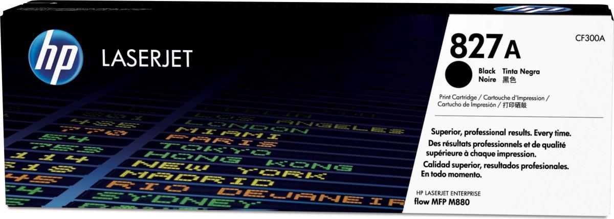 HP 827A/CF300A lasertoner 29.500s, sort
