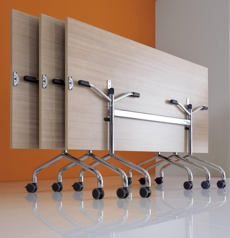 Space klapbord, 160x80 rektangulært, bøg melamin