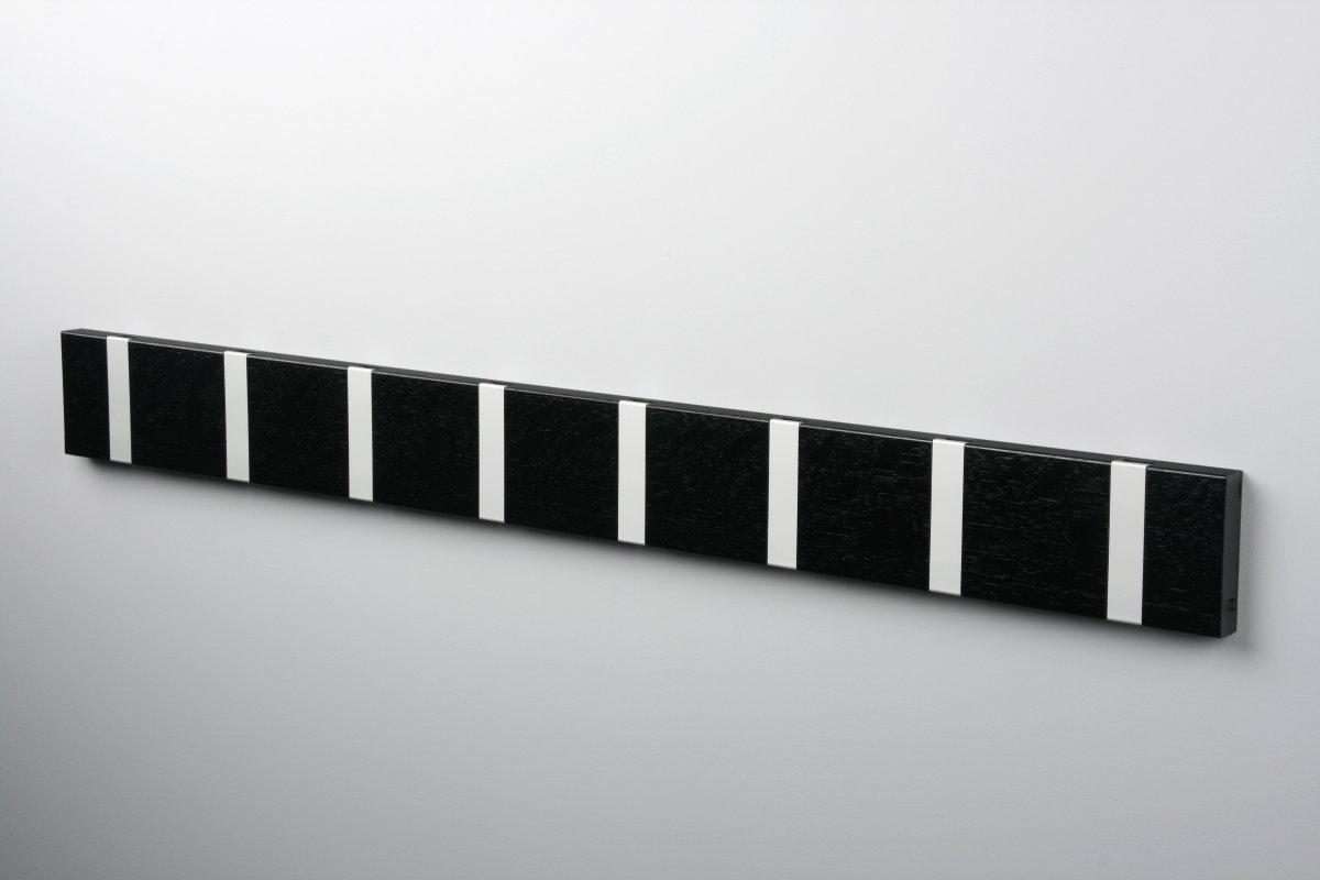 KNAX 8 knagerække, vandret, sortbejdset eg/grå