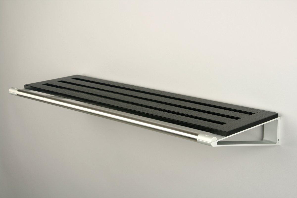 KNAX Hattehylde, 60 cm, sortbejdset eg