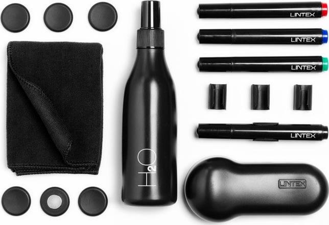 Lintex tilbehørssæt i sort til glastavler