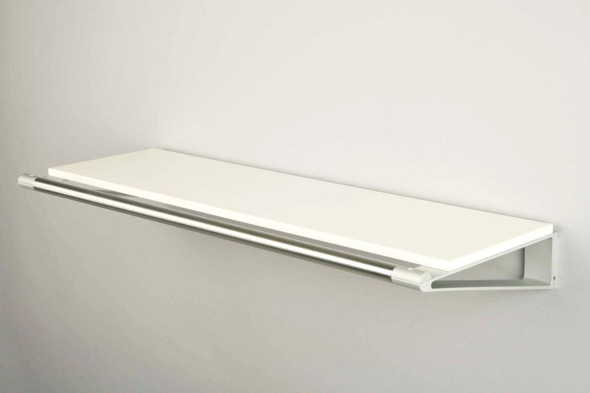 KNAX Hattehylde, 60 cm, hvid/grå