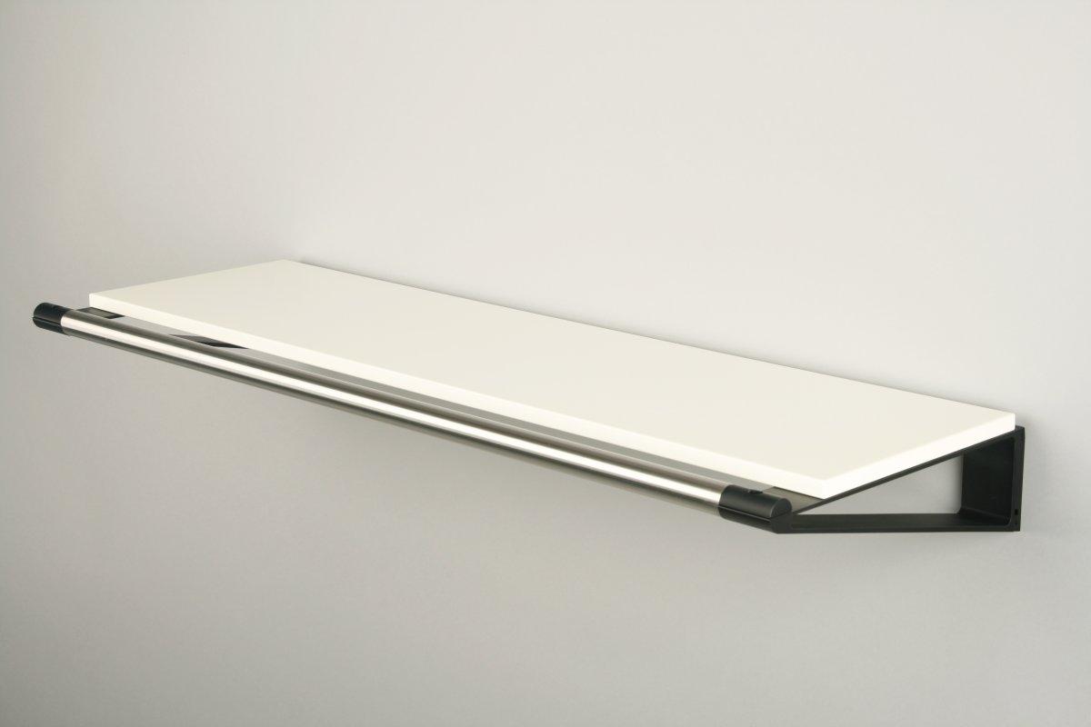 KNAX Hattehylde, 80 cm, hvid/sort