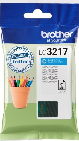 Brother LC3217C blækpatron, blå, 550s