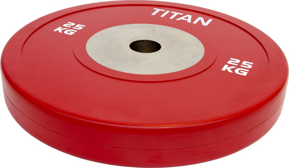 Titan Box Elite Bumper Plate, 25 kg