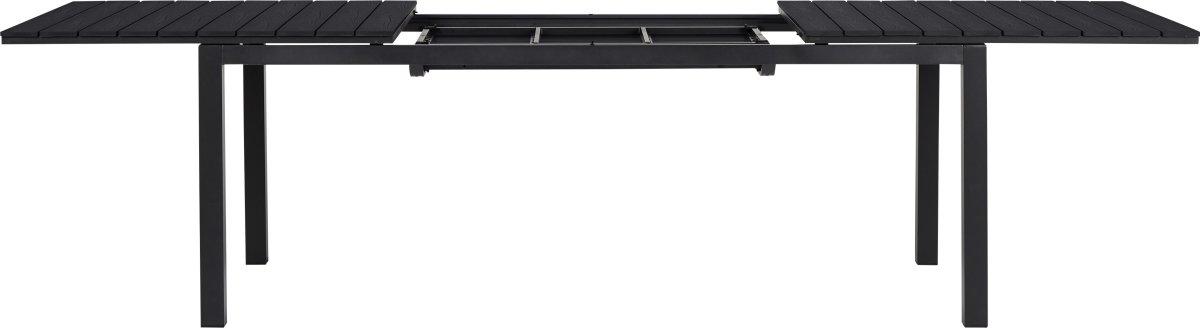 William havebord i sort B95 x L200/250/300 cm
