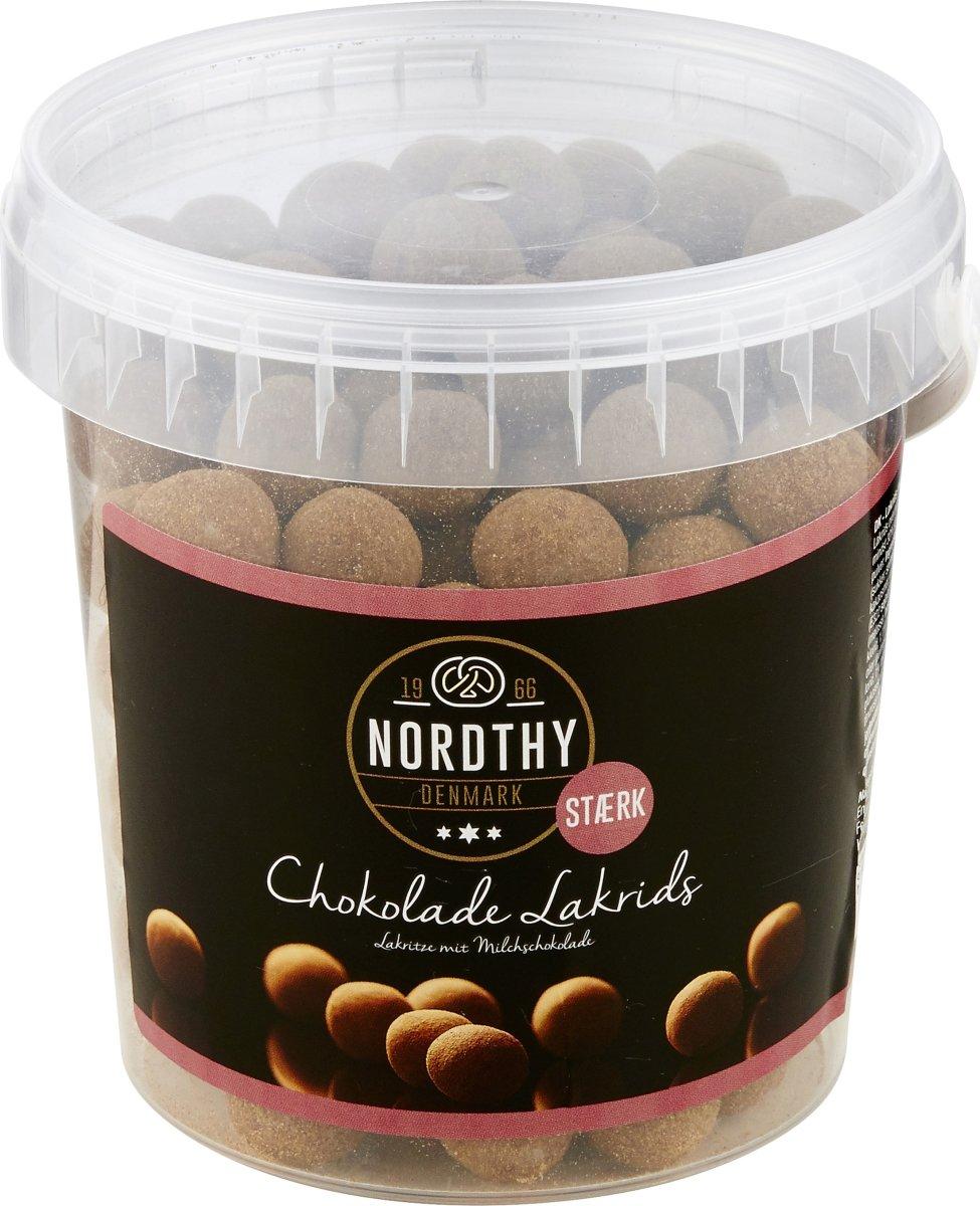 Nordthy Lakridskugler m/chokolade - Stærk, 500 g