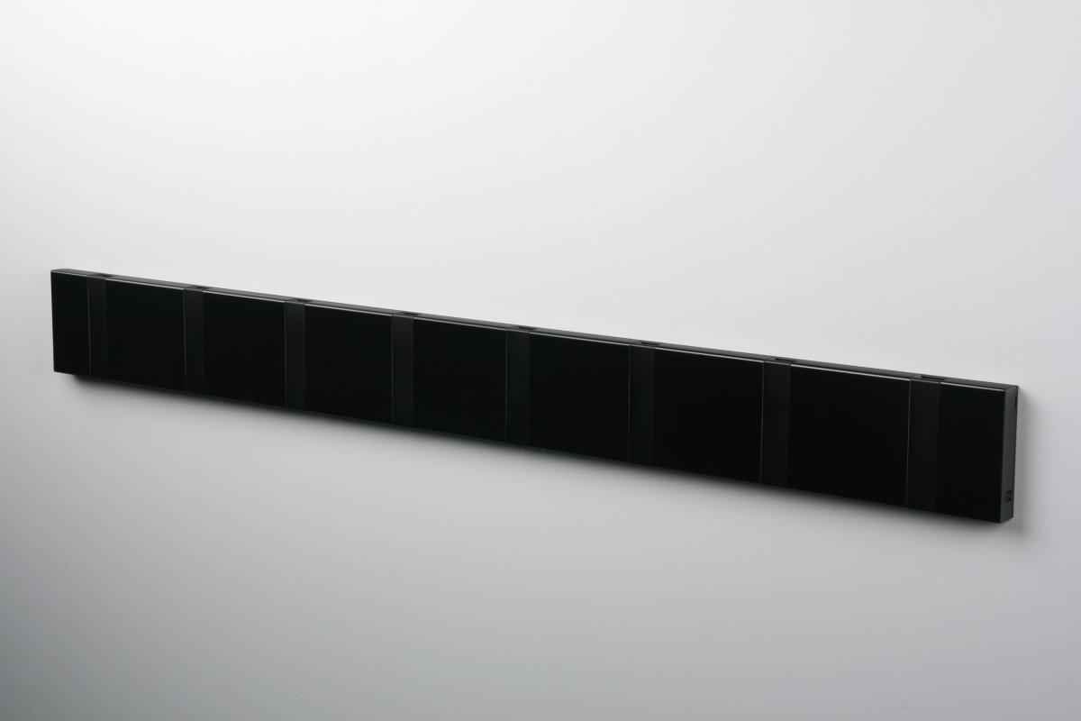 KNAX 8 knagerække, vandret, sort/sort