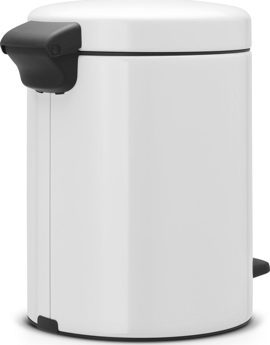 Brabantia Pedalspand, 5 L, metal, white