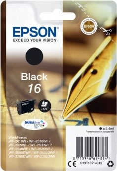 Epson T1621 Blækpatron,175 sider, sort