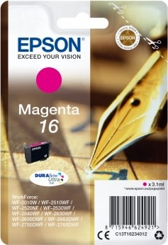 Epson T1623 Blækpatron, 165 sider, rød