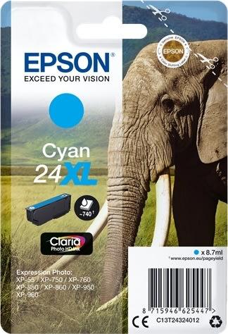 Epson Nr.24XL blækpatron, blå