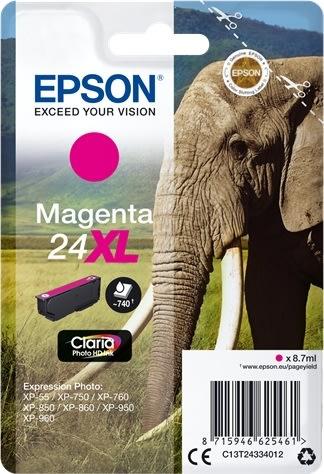 Epson Nr.24XL blækpatron, rød