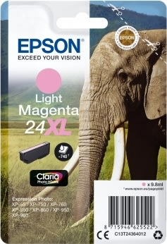 Epson Nr.24XL blækpatron, lyserød
