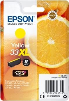 Epson 33XL Blækpatron, gul