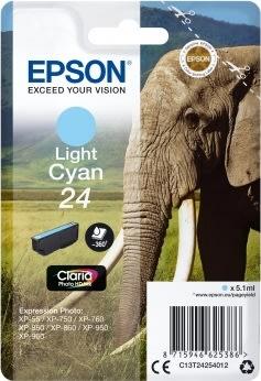 Epson nr.T2425/C13T24254012 blækpatron, lyseblå