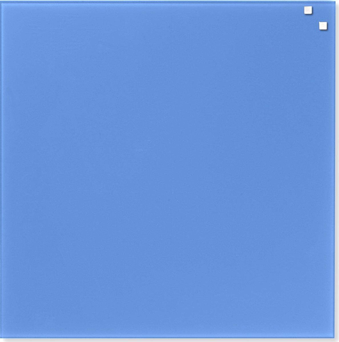 Glassboard magnetisk glastavle 45x45 cm, blå