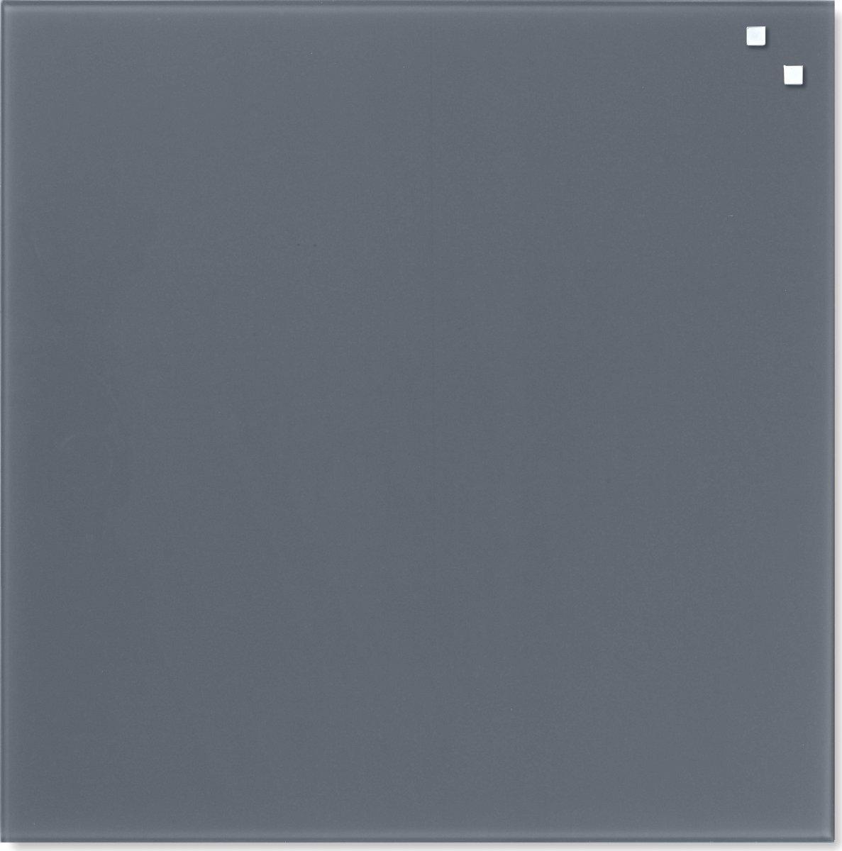 Glassboard magnetisk glastavle 45 x 45 cm, grå