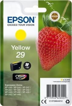Epson C13T29844012 blækpatron, gul