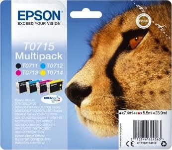 Epson nr.T0715/C13T07154022 blækpatron, sampack