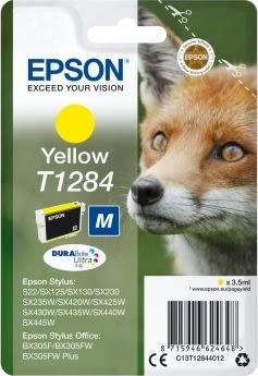 Epson nr.T1284/C13T12844022 blækpatron, gul, 175s
