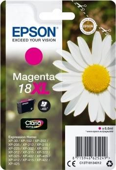 Epson 18/C13T18134022 rød blækpatron, m/alarm
