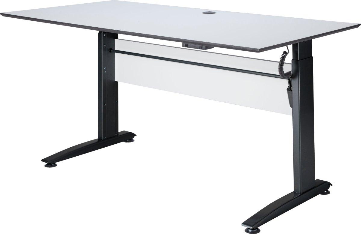 VIKING hæve/sænkebord 160X80, hvid / Sort