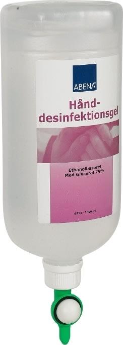Abena hånddesinfektion gel 85%, 1 liter