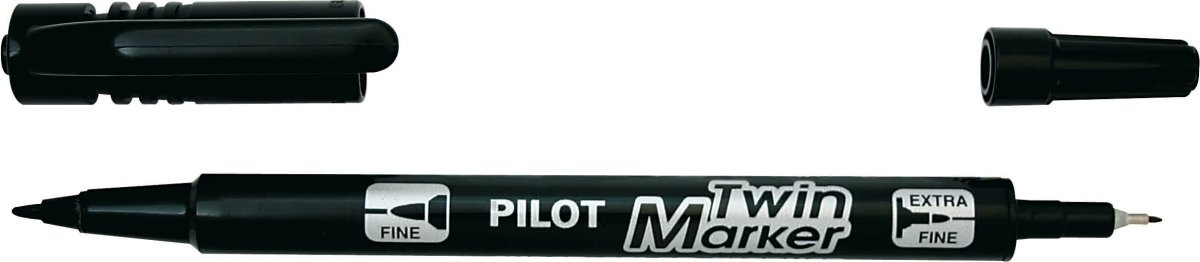 Pilot twin marker BG, sort