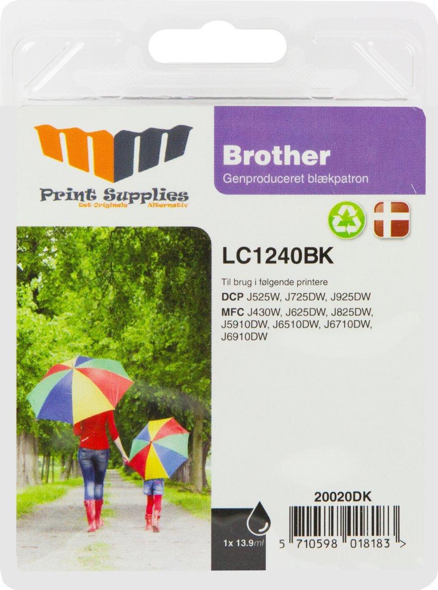 MM Sort blækpatron - Brother LC1240BK