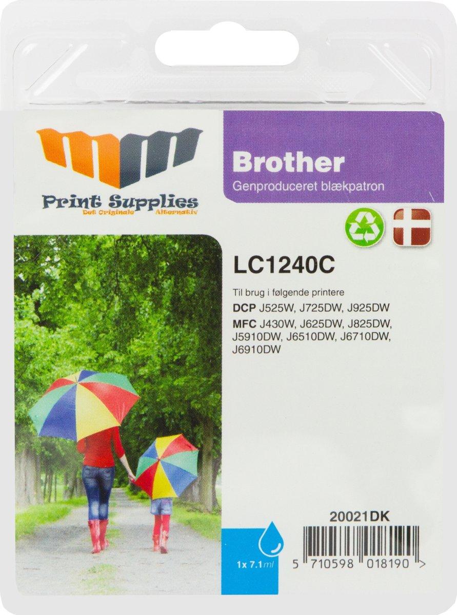 MM Blå blækpatron - Brother LC1240C