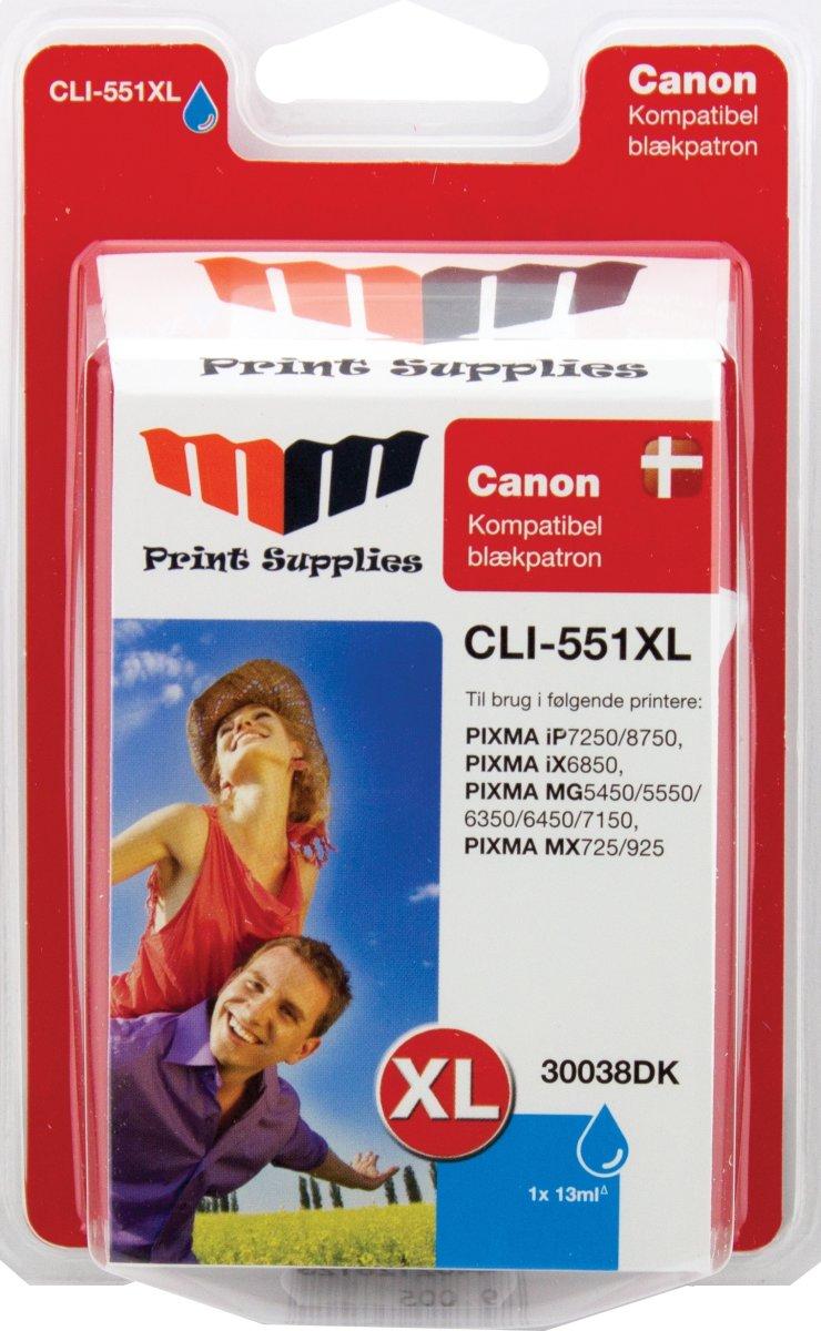 MM blå blækpatron - Canon CLI-551CXL
