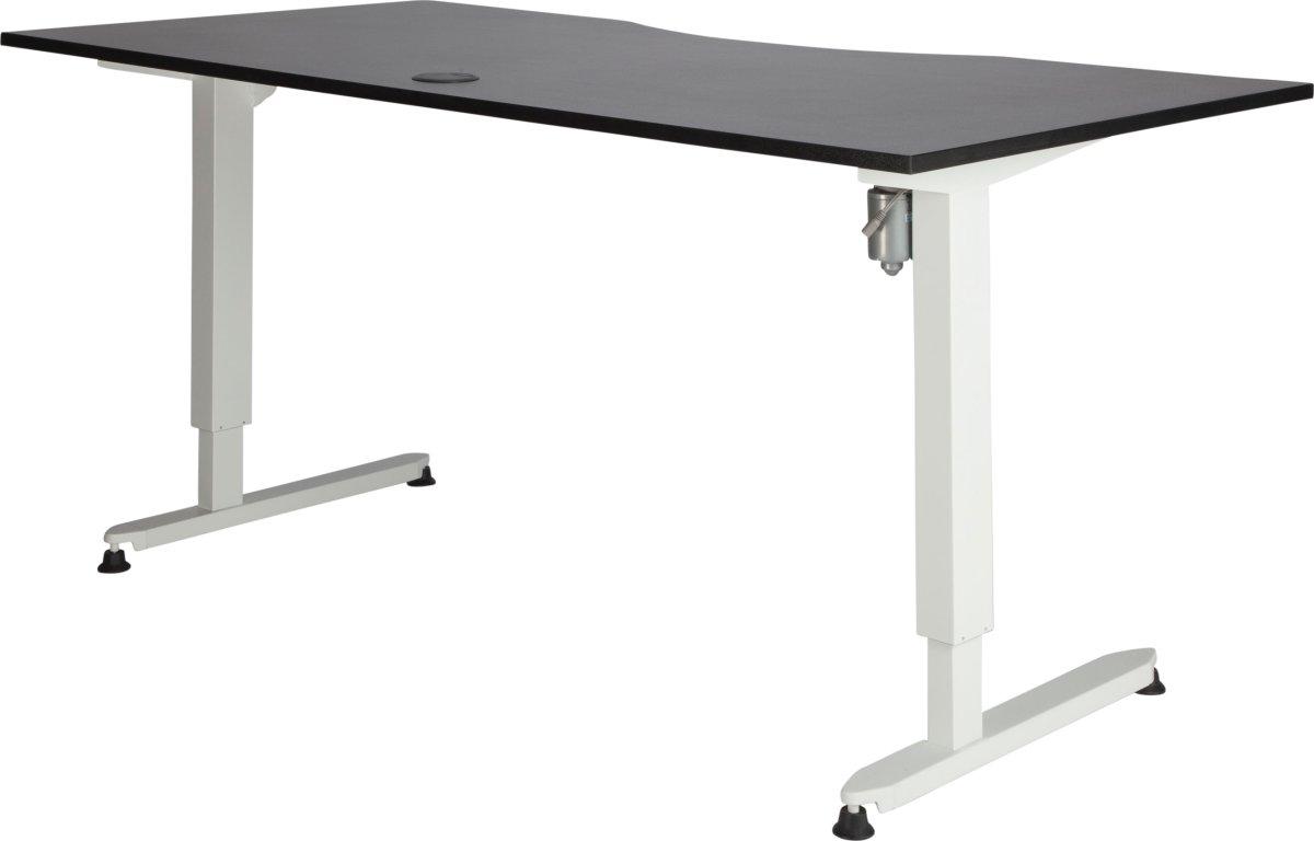 Stay hæve/sænkebord grå/hvid 180x90 cm