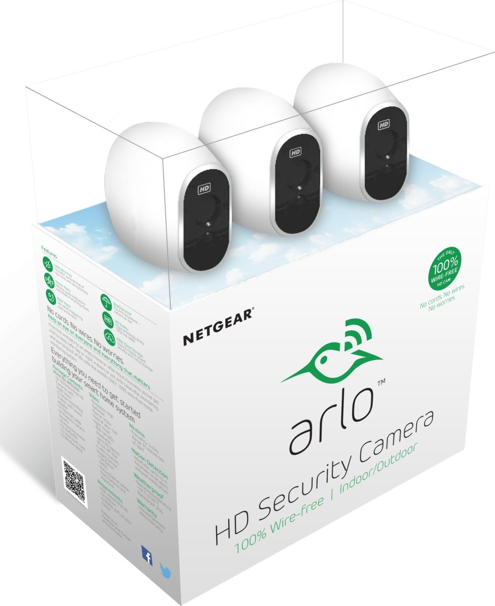 Netgear VMS3330 Arlo, 3 IP kameraer+videoserver