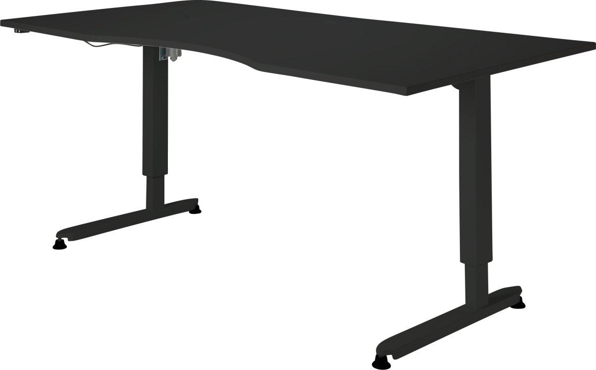 Stay hæve/sænkebord sort/sort 180x90 cm