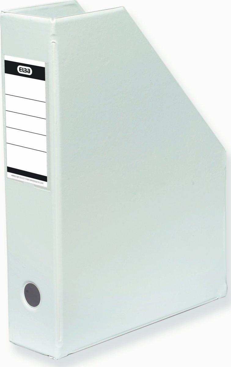 Elba tidsskriftholder A4+, ryg 7cm, hvid