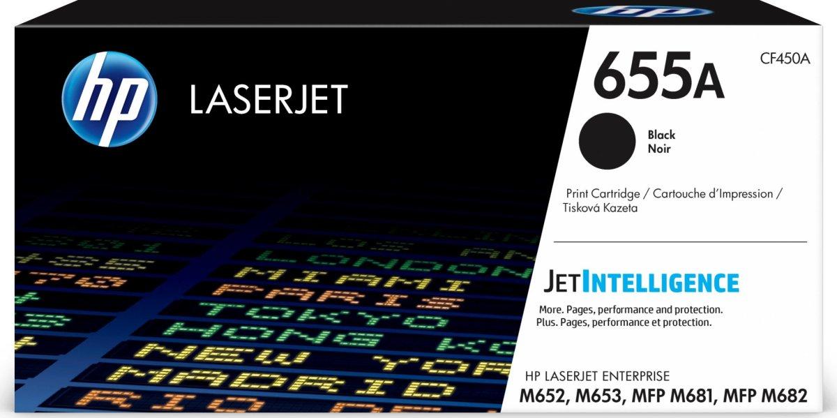 HP 655A/CF450A Lasertoner, sort, 12500s