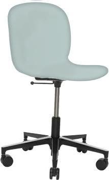 RBM Noor mødestol lys blå med Alu base
