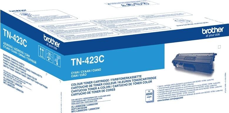 Brother TN-423C XL Lasertoner, blå, 4000s