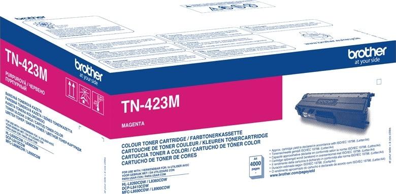 Brother TN-423M XL Lasertoner, rød, 4000s