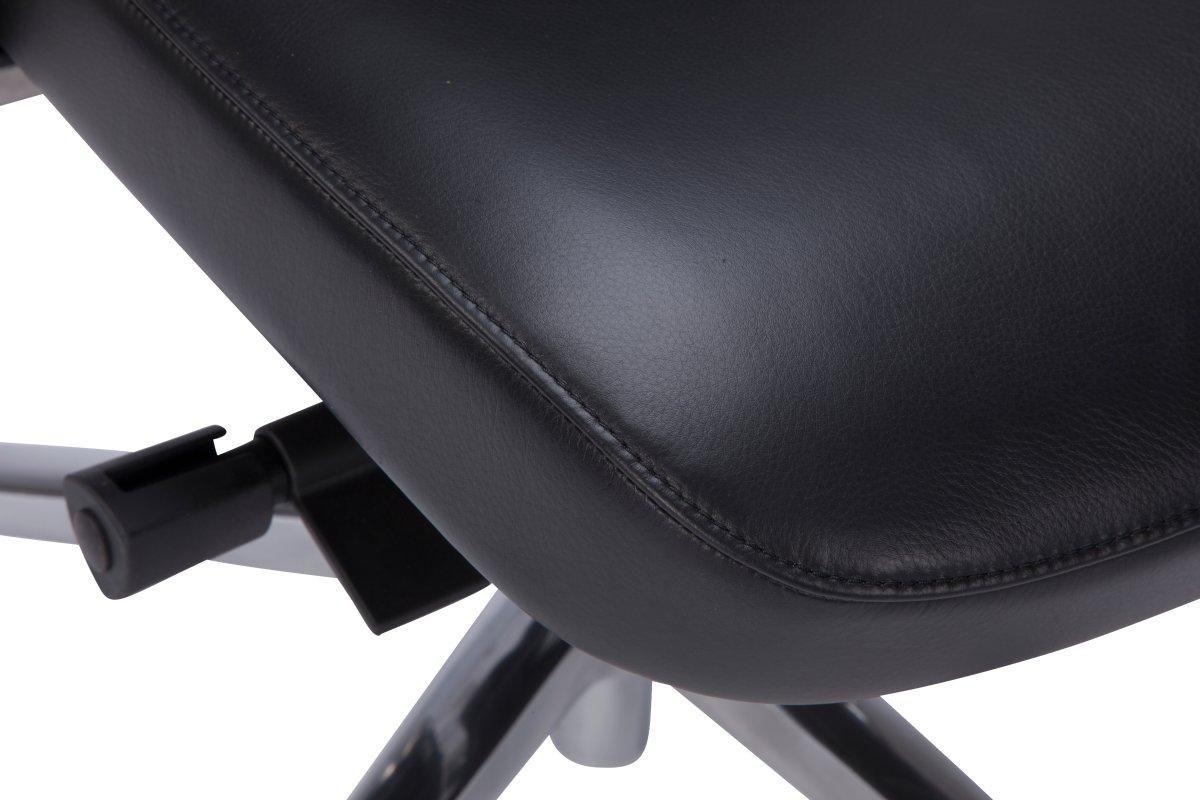 Treviso chef kontorstol i sort kvalitetslæder