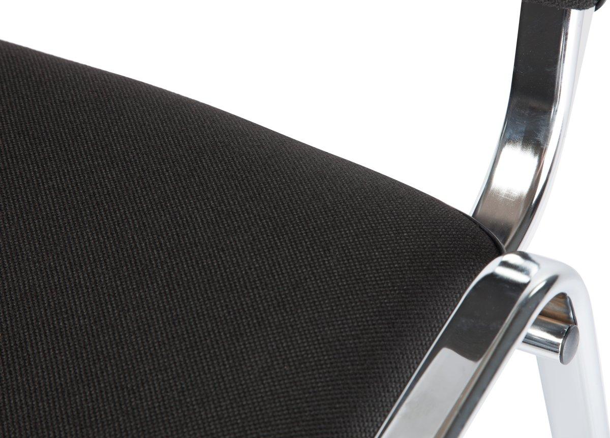 Casa kantine- og konferencestol polster, sort