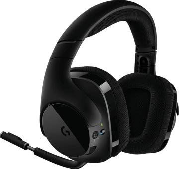 Logitech G533 DTS trådløst gaming headset, Sort