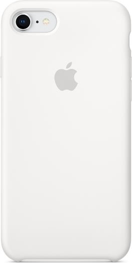 Apple cover til iPhone 8 i silikone, hvid