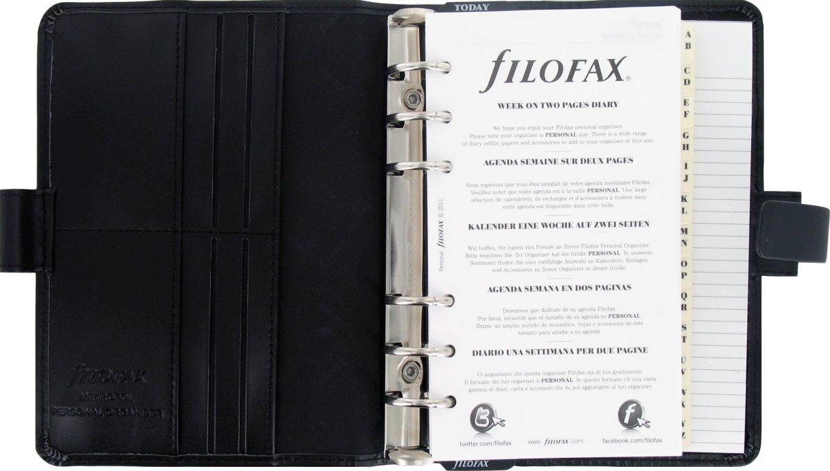 Filofax Metropol 2017 Kalender Personal, sort